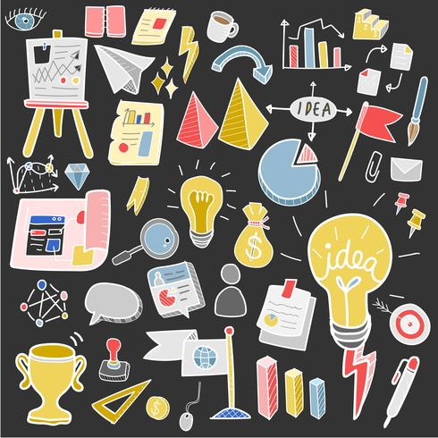 Illustration der Startgeschäfts-Gekritzelsammlung
