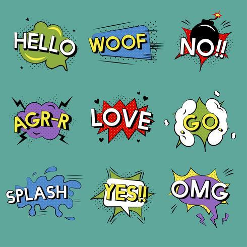 Expressões de palavras de estilo cômico