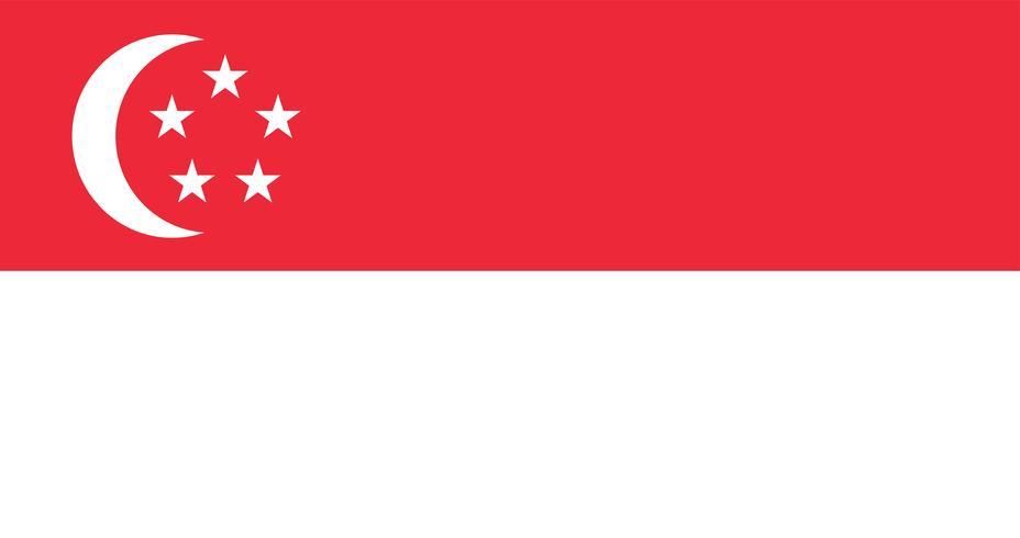 Ilustración de la bandera de Singapur