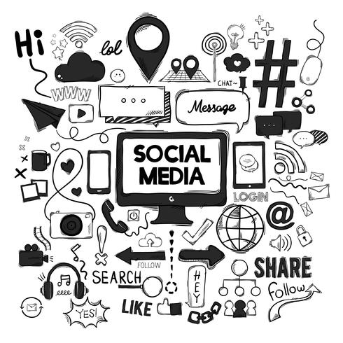 Vektorsatz Social Media-Ikonen