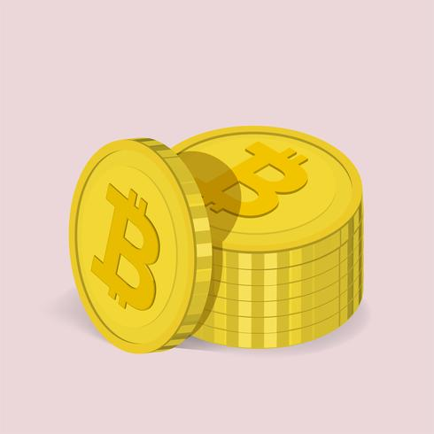 Vektorikone der Bitcoinikone