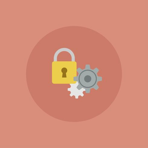 Privacy setting vector icon illustration Vector of ...