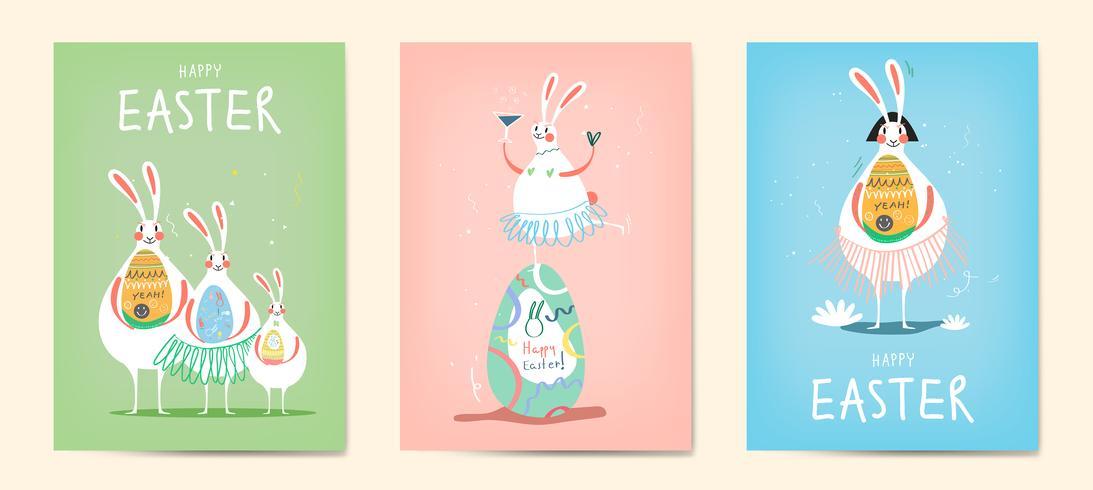 Påskfirande illustration samling