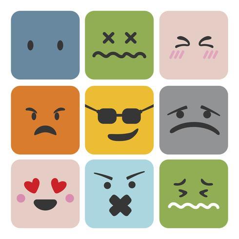 Satz von Emoji-Gefühlsausdruck