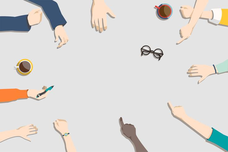 Illustration der Brainstorming-Teamarbeit