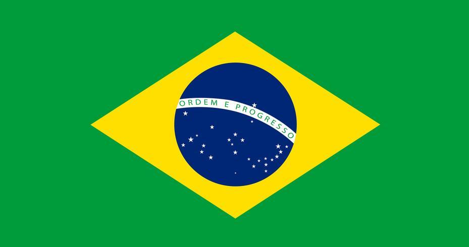 Illustration av Brasilien flagga