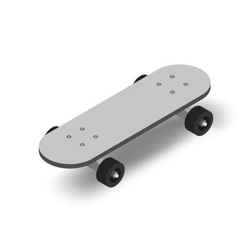 Image vectorielle d'icône de skatebaord