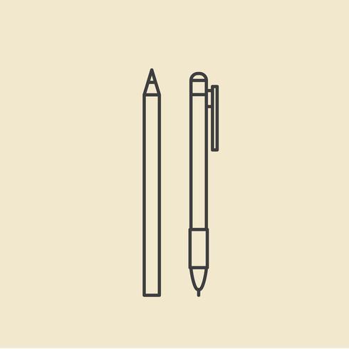 Vetorial, de, caneta, ícones