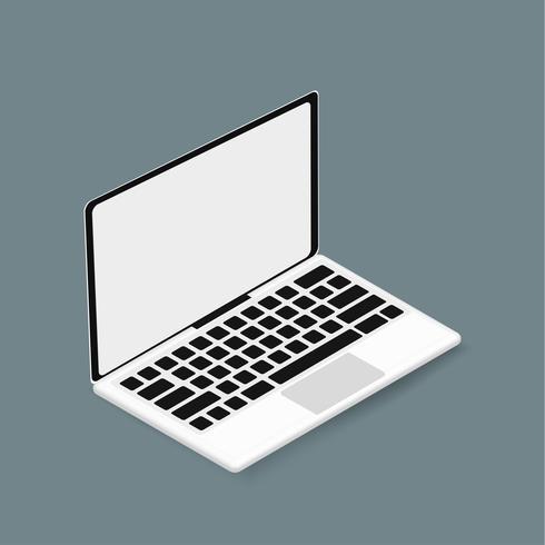 Vektor ikon för dator bärbar dator