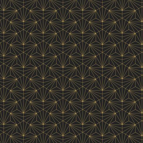 Goldenes geometrisches nahtloses Muster auf schwarzem Hintergrund