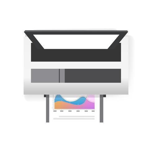 Vetor de ícone de impressora