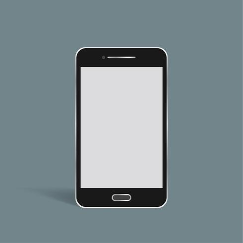 Vector van 3D slimme telefoonpictogram op achtergrond