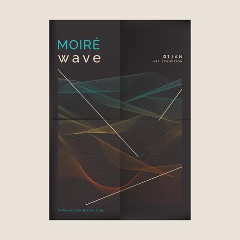 Moiré mönster bakgrund
