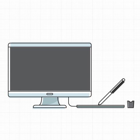 Vector de dispositivo digital de computadora