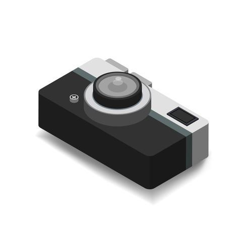 Icône de vecteur d'icône d'appareil photo vintage