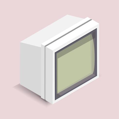 Illustration vectorielle de l'écran de l'ordinateur