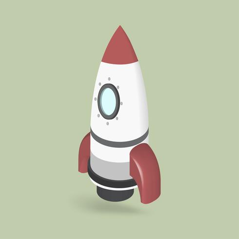 Vector of rocketship icon