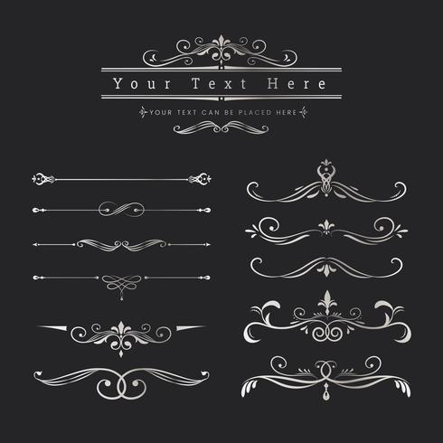 Vintage ornamental design elements