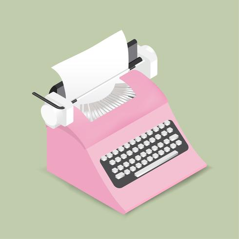 Vektor der Retro- Schreibmaschinenikone
