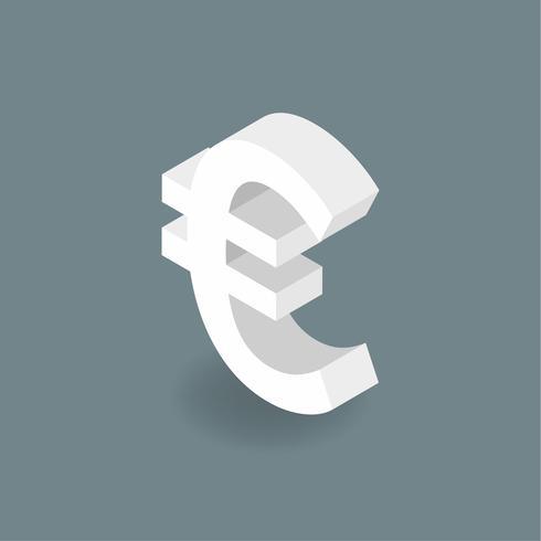 Vektorikone der Geld Eurozeichenikone