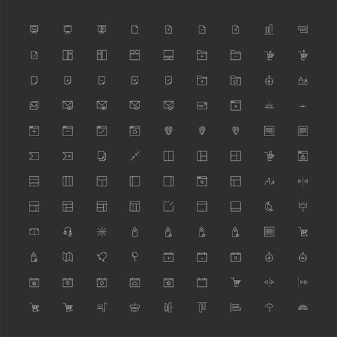 Ensemble de vecteurs d'icône d'ordinateur