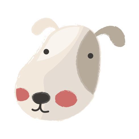 Gullig illustration av en hund