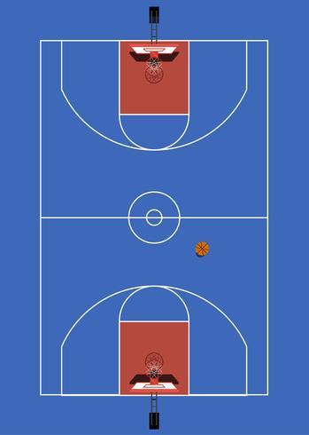 Veduta aerea di un campo da basket