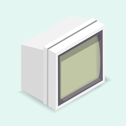 Vetorial, ilustração, de, monitor computador