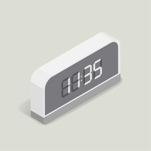 Vektoravbild av den digitala väckarklockan