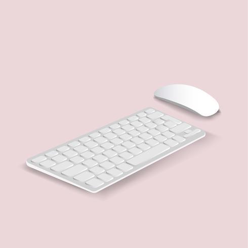 Vektor der Tastatur- und Mausikone