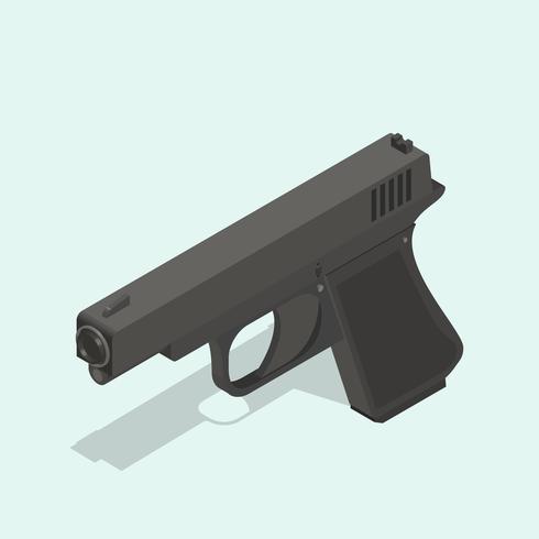 Icona di vettore della pistola