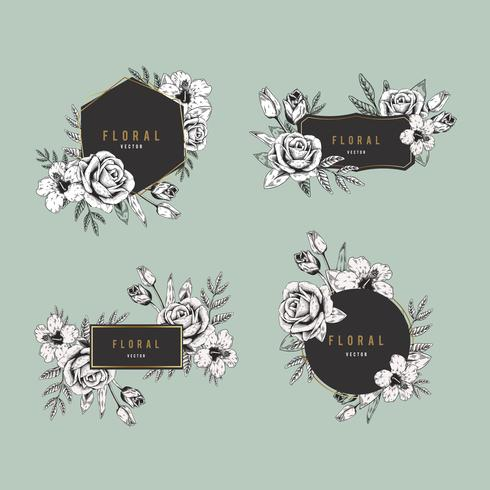 bloemen badge set