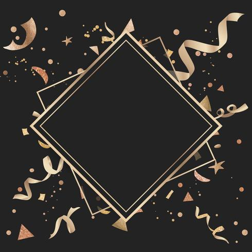 Gold Konfetti feierliches Design