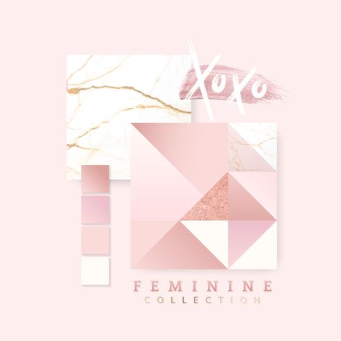 Design de layout rosa feminino