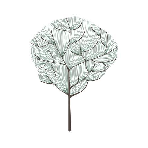 Doodle de uma árvore