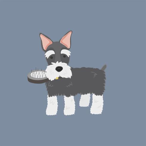 Gullig illustration av en skotsk terrierhund