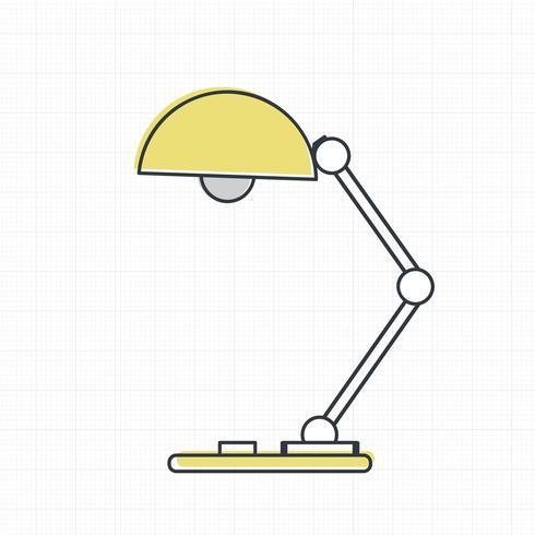 Vektor des Lampensymbols