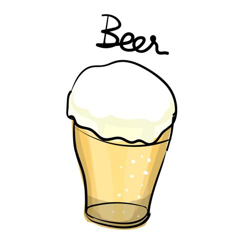 Stile di disegno illustrazione della collezione di bevande