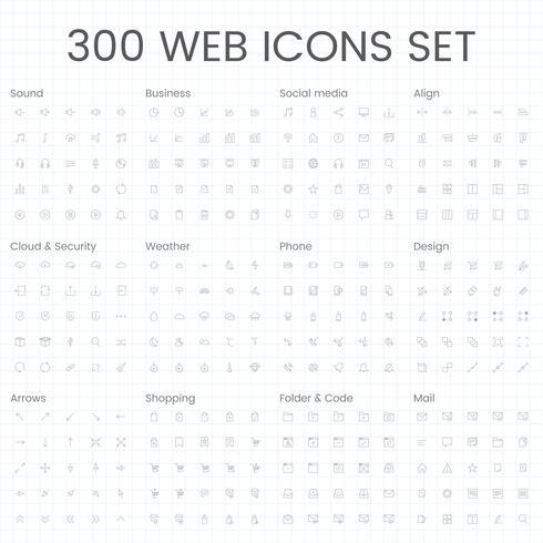 Set van computer pictogram vectoren