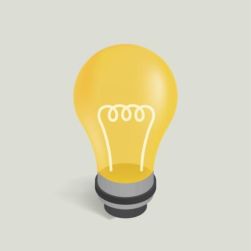 Vektorbild einer Glühlampeikone