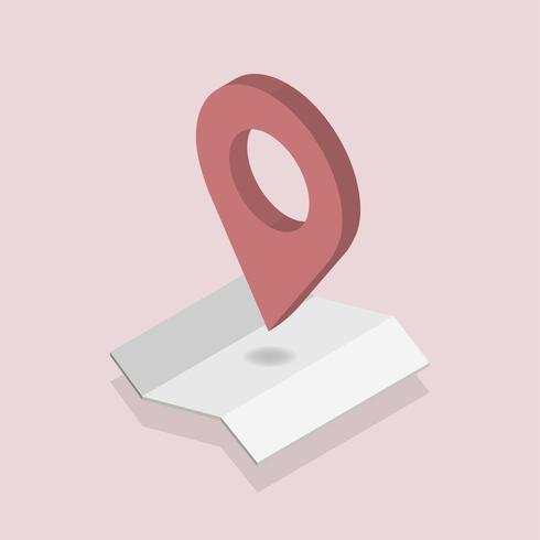 Vecteur d'icône de navigation GPS