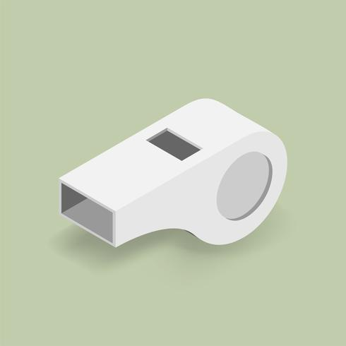 Vector image of a whistle icon