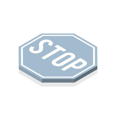 Vector of stop sign icon