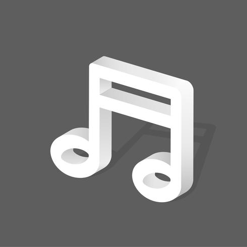 Vector icon of music note