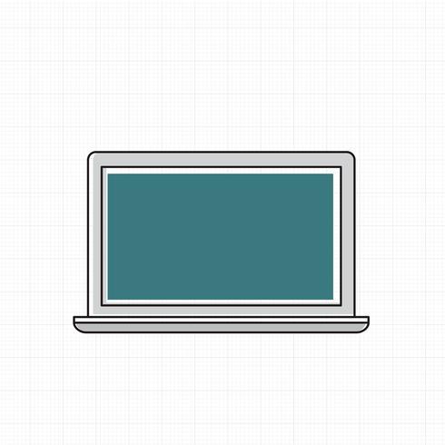 Vektor des digitalen Computers des Computers