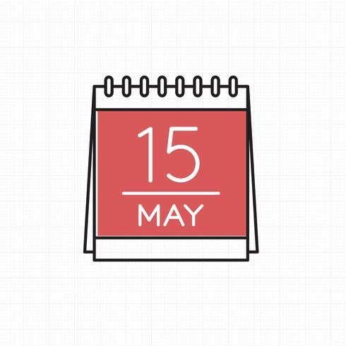 Vector van kalenderpictogram
