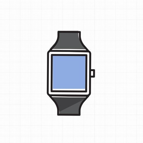Vetor de ícone de relógio de mão