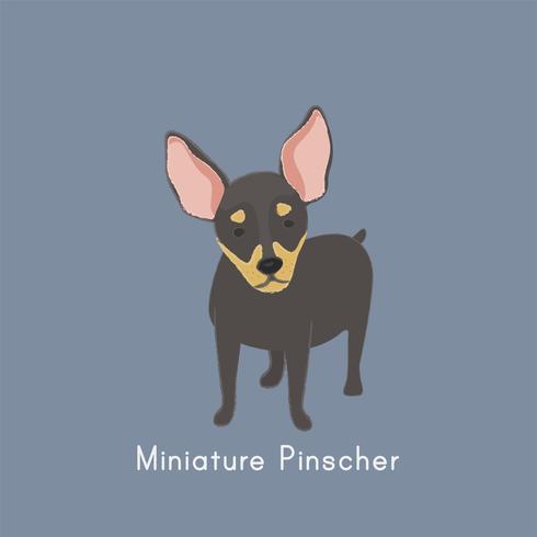 Gullig illustration av en chihuahua hund