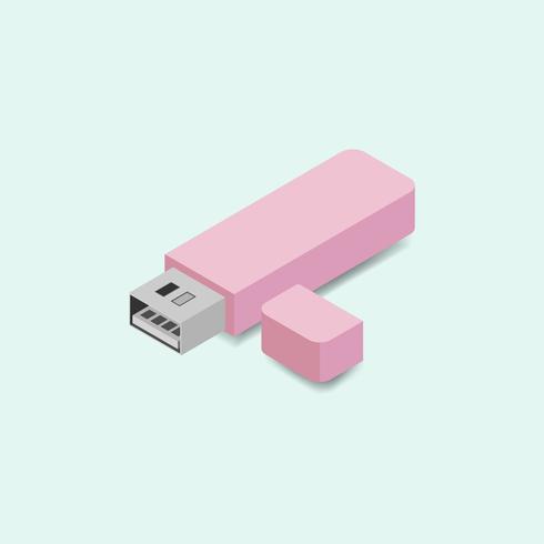 Vecteur d'icône de lecteur flash USB