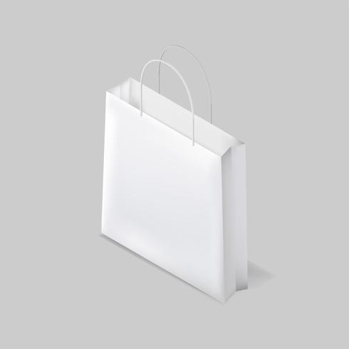 Vecteur d'icône de sac shopping blanc